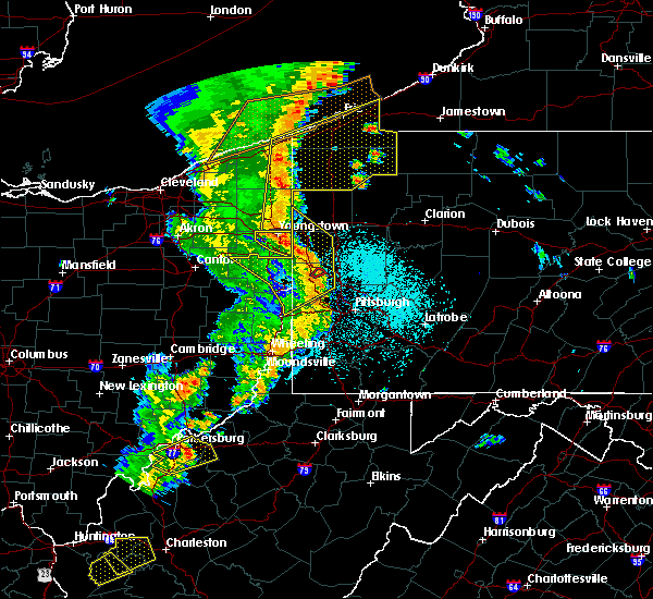 Radar Image for Severe Thunderstorms near West Middlesex, PA at 6/10/2020 9:51 PM EDT