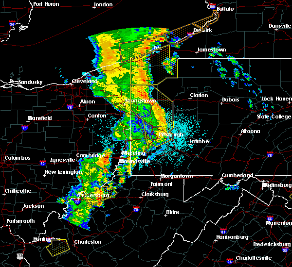 Radar Image for Severe Thunderstorms near Greenville, PA at 6/10/2020 10:18 PM EDT