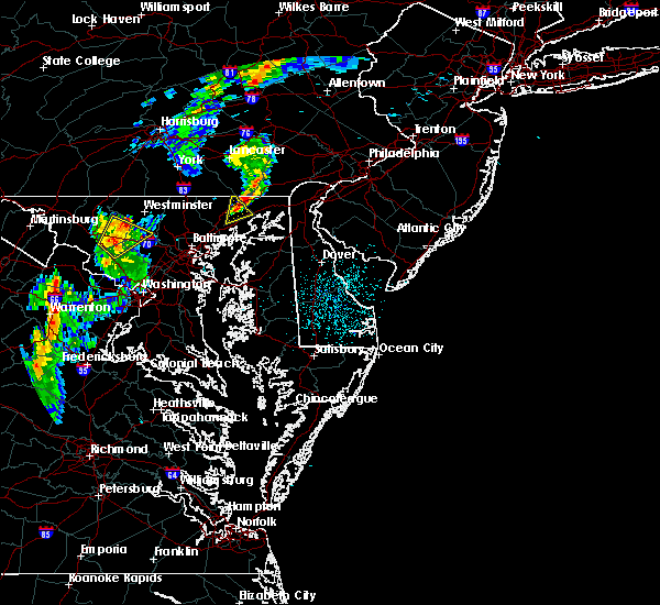 Radar Image for Severe Thunderstorms near Aberdeen, MD at 6/10/2020 10:21 PM EDT