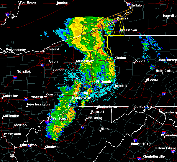 Radar Image for Severe Thunderstorms near Mill Village, PA at 6/10/2020 10:44 PM EDT