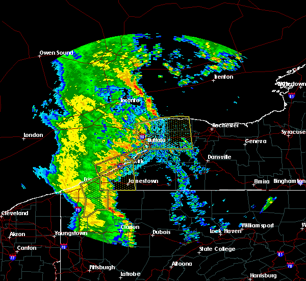 Radar Image for Severe Thunderstorms near Panama, NY at 6/10/2020 11:05 PM EDT