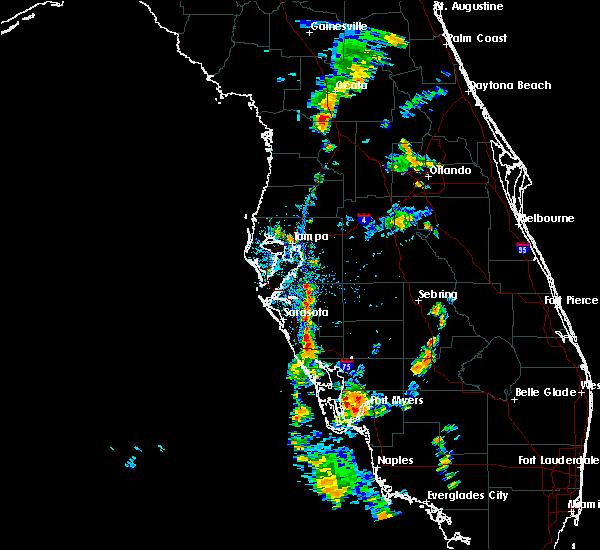 Radar Image for Severe Thunderstorms near Hernando, FL at 6/11/2020 5:29 PM EDT