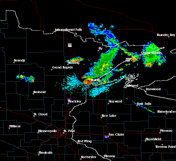 Radar Image for Severe Thunderstorms near Duluth, MN at 6/29/2015 11:24 AM CDT