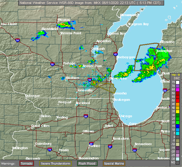 Radar Image for Severe Thunderstorms near Wales, WI at 6/11/2020 5:15 PM CDT