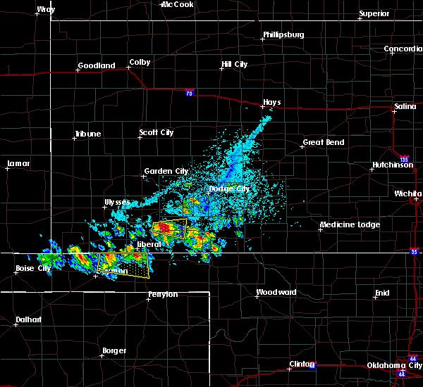 Radar Image for Severe Thunderstorms near Meade, KS at 6/11/2020 5:33 PM CDT