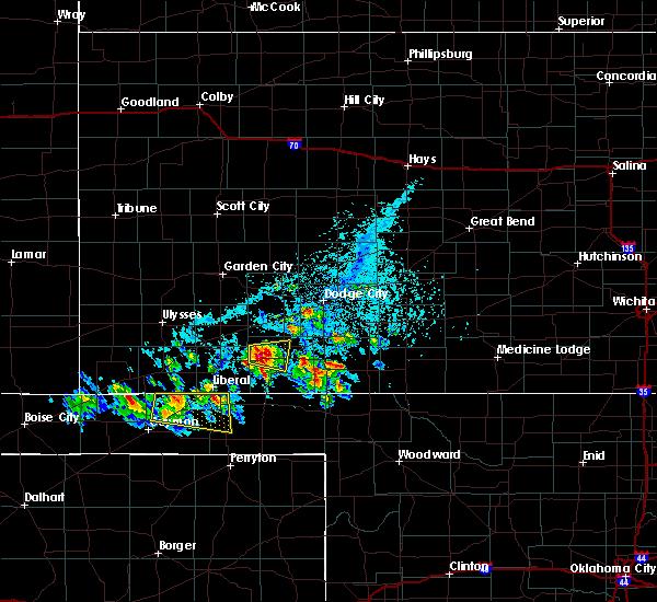 Radar Image for Severe Thunderstorms near Hooker, OK at 6/11/2020 5:36 PM CDT