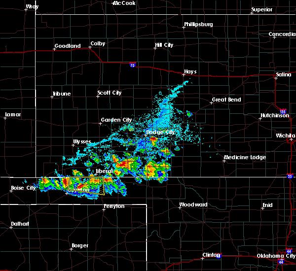 Radar Image for Severe Thunderstorms near Ford, KS at 6/11/2020 6:00 PM CDT