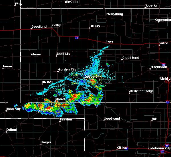 Radar Image for Severe Thunderstorms near Hooker, OK at 6/11/2020 6:11 PM CDT
