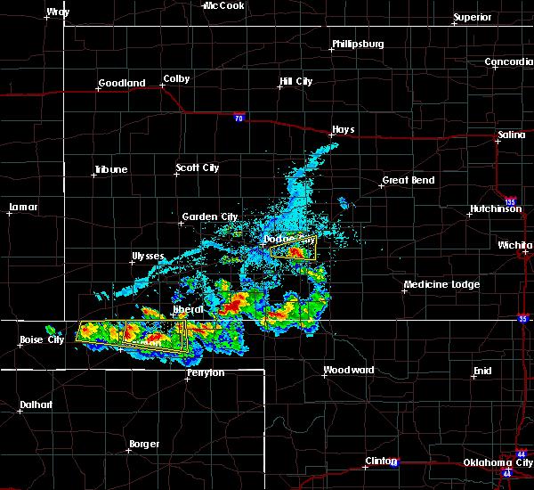 Radar Image for Severe Thunderstorms near Ford, KS at 6/11/2020 6:18 PM CDT