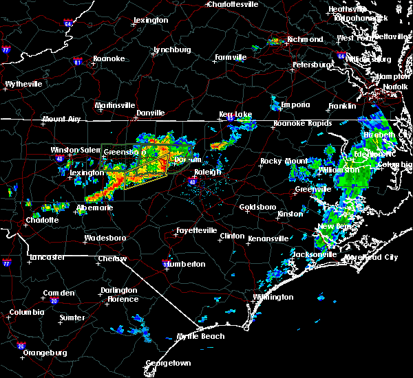 Radar Image for Severe Thunderstorms near Morrisville, NC at 6/11/2020 7:32 PM EDT