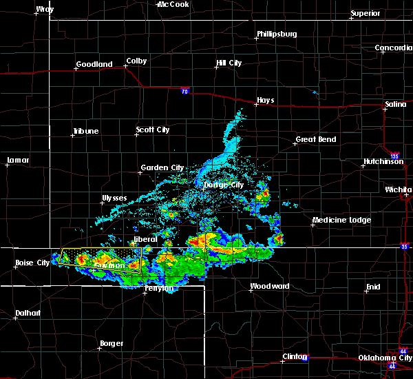 Radar Image for Severe Thunderstorms near Hooker, OK at 6/11/2020 6:50 PM CDT