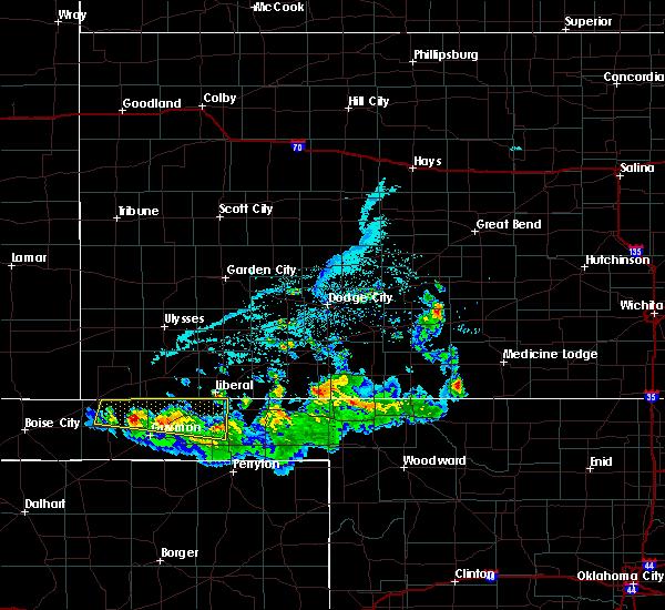 Radar Image for Severe Thunderstorms near Hooker, OK at 6/11/2020 6:56 PM CDT