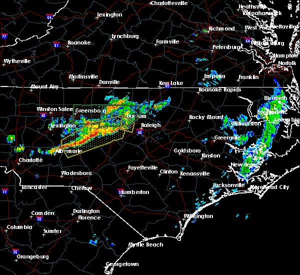 Radar Image for Severe Thunderstorms near Morrisville, NC at 6/11/2020 8:07 PM EDT