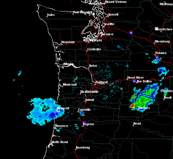 Radar Image for Severe Thunderstorms near Pine Hollow, OR at 6/11/2020 5:16 PM PDT