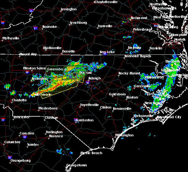 Radar Image for Severe Thunderstorms near Asheboro, NC at 6/11/2020 8:18 PM EDT