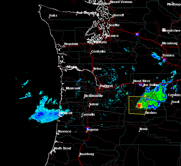 Radar Image for Severe Thunderstorms near Pine Hollow, OR at 6/11/2020 5:37 PM PDT