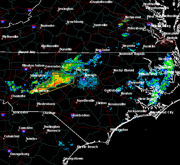 Radar Image for Severe Thunderstorms near Asheboro, NC at 6/11/2020 8:46 PM EDT