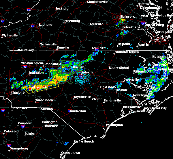 Radar Image for Severe Thunderstorms near Badin, NC at 6/11/2020 9:12 PM EDT