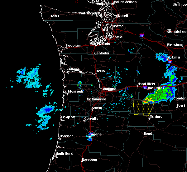 Radar Image for Severe Thunderstorms near Pine Hollow, OR at 6/11/2020 6:12 PM PDT