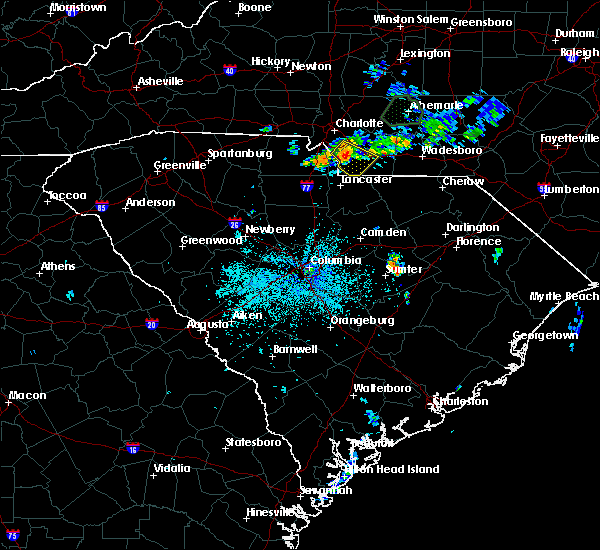 Radar Image for Severe Thunderstorms near Wingate, NC at 6/11/2020 11:27 PM EDT