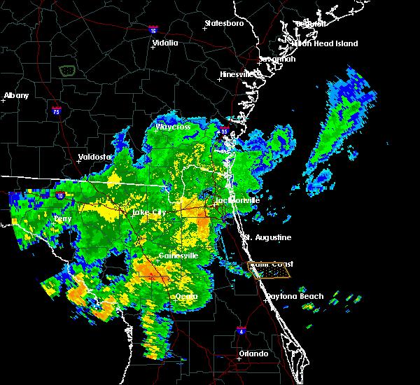 Radar Image for Severe Thunderstorms near Jacksonville, FL at 6/12/2020 10:41 PM EDT