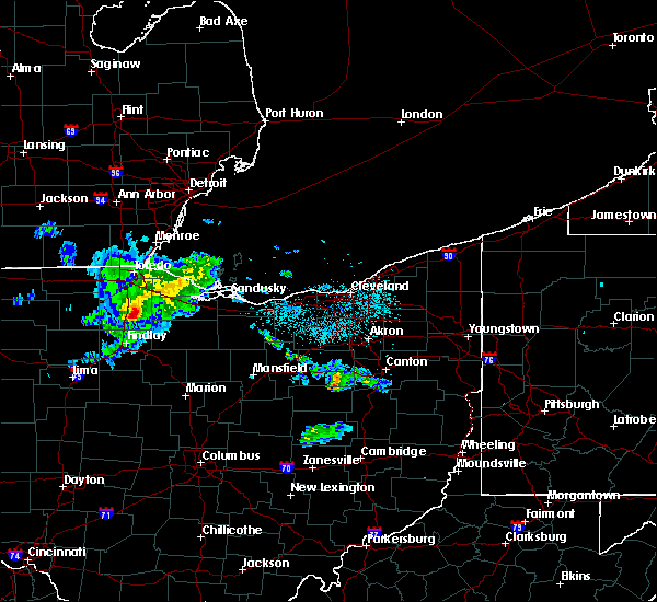 Radar Image for Severe Thunderstorms near New Riegel, OH at 6/12/2020 11:36 PM EDT