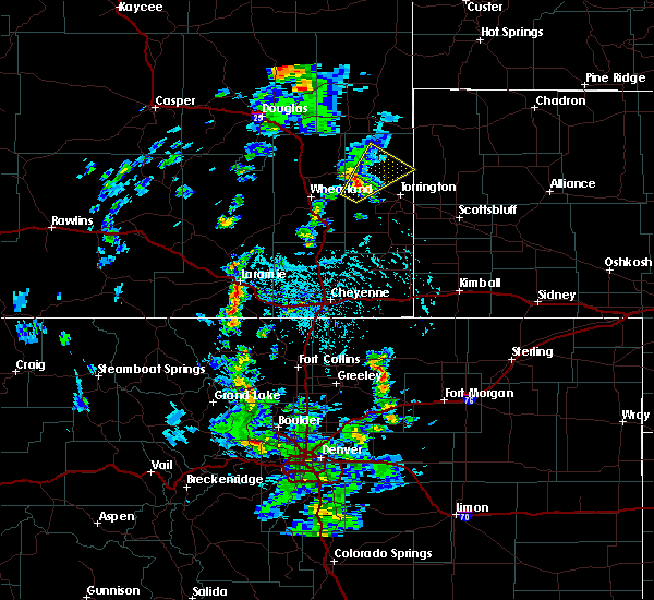 Radar Image for Severe Thunderstorms near Lingle, WY at 6/13/2020 3:44 PM MDT