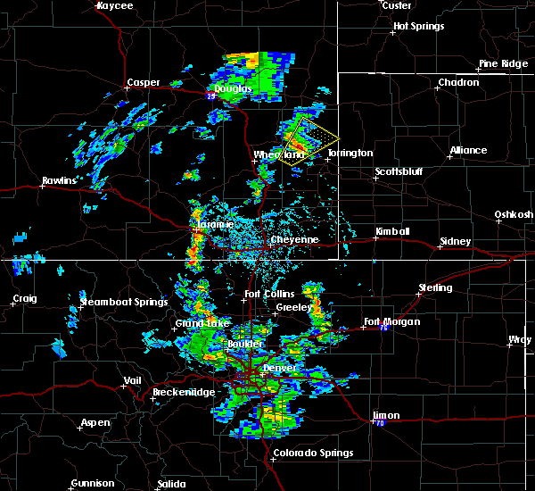 Radar Image for Severe Thunderstorms near Fort Laramie, WY at 6/13/2020 3:58 PM MDT
