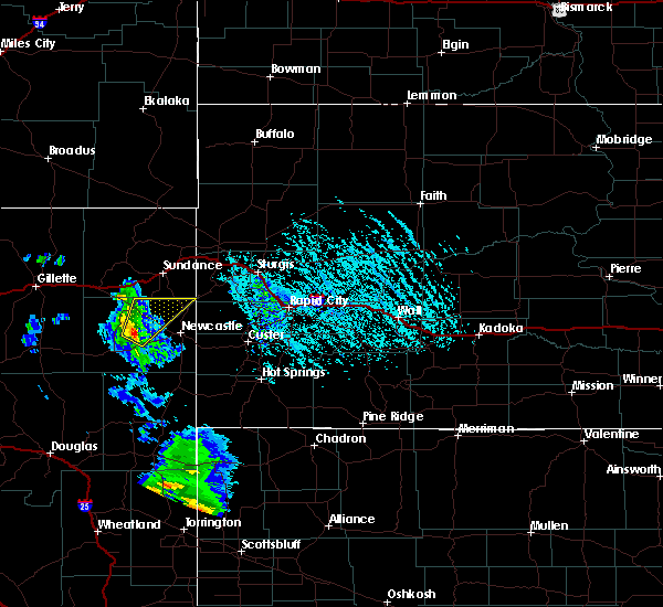 Radar Image for Severe Thunderstorms near Osage, WY at 6/13/2020 5:16 PM MDT