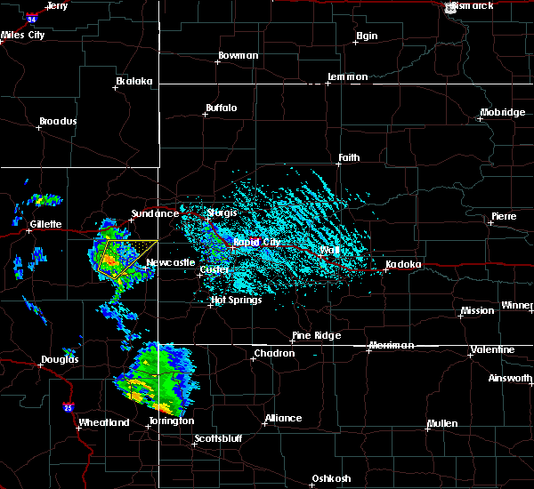 Radar Image for Severe Thunderstorms near Osage, WY at 6/13/2020 5:29 PM MDT