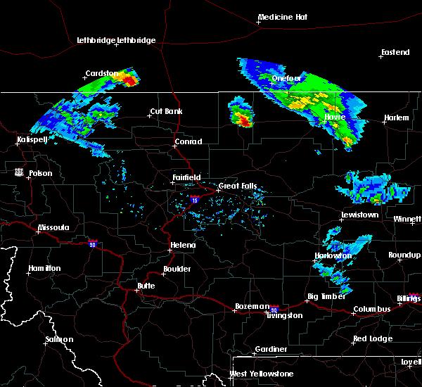 Radar Image for Severe Thunderstorms near Chester, MT at 6/13/2020 7:44 PM MDT