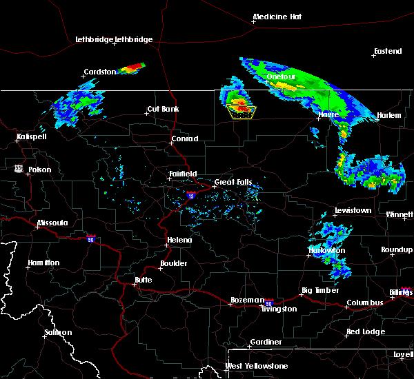 Radar Image for Severe Thunderstorms near Joplin, MT at 6/13/2020 8:00 PM MDT
