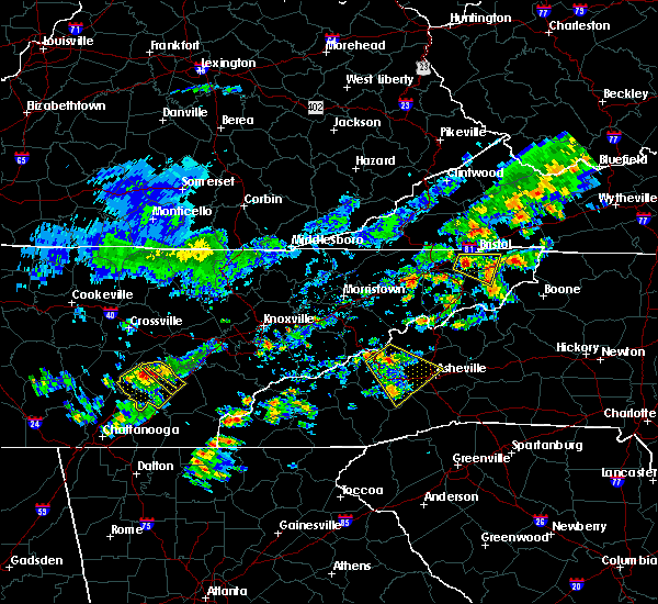 Radar Image for Severe Thunderstorms near Decatur, TN at 6/14/2020 1:57 PM EDT