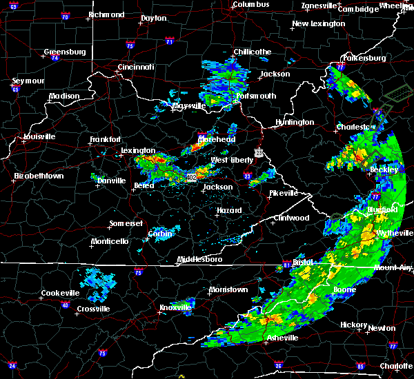 Radar Image for Severe Thunderstorms near Mount Sterling, KY at 6/14/2020 3:51 PM EDT