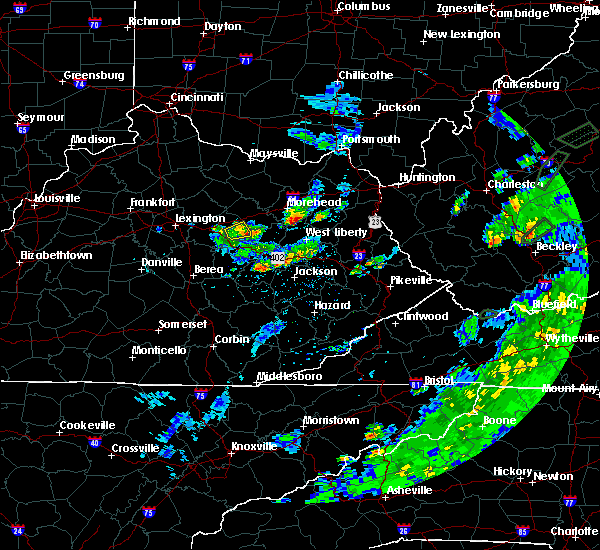Radar Image for Severe Thunderstorms near Mount Sterling, KY at 6/14/2020 4:11 PM EDT