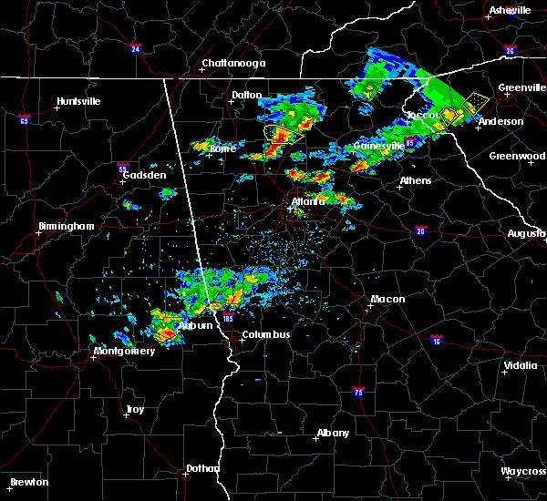 Radar Image for Severe Thunderstorms near Roswell, GA at 6/14/2020 6:02 PM EDT