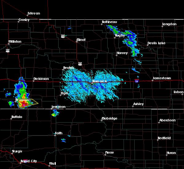Radar Image for Severe Thunderstorms near Reeder, ND at 6/14/2020 4:38 PM MDT
