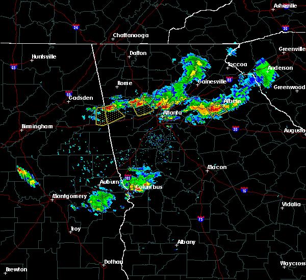 Radar Image for Severe Thunderstorms near Dallas, GA at 6/14/2020 7:21 PM EDT