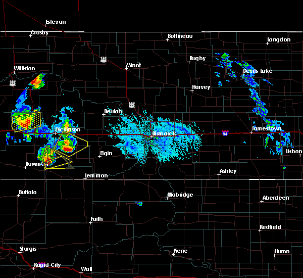 Radar Image for Severe Thunderstorms near New England, ND at 6/14/2020 5:56 PM MDT