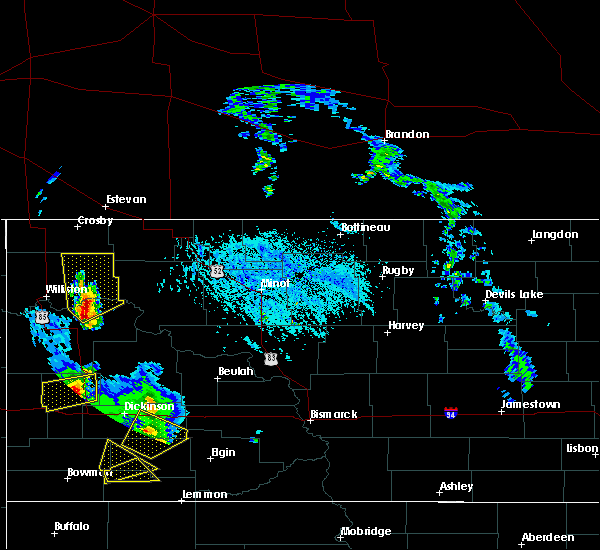 Radar Image for Severe Thunderstorms near Tioga, ND at 6/14/2020 6:58 PM CDT