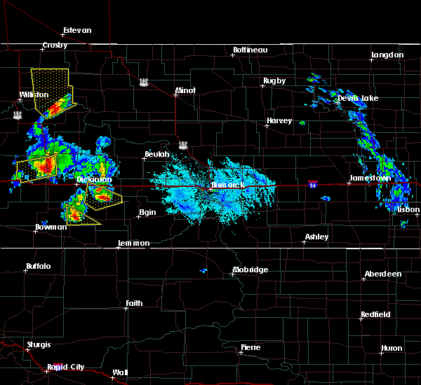 Radar Image for Severe Thunderstorms near Richardton, ND at 6/14/2020 6:17 PM MDT
