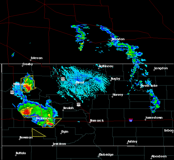 Radar Image for Severe Thunderstorms near Tioga, ND at 6/14/2020 7:24 PM CDT