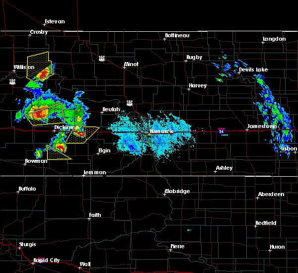 Radar Image for Severe Thunderstorms near Richardton, ND at 6/14/2020 6:33 PM MDT