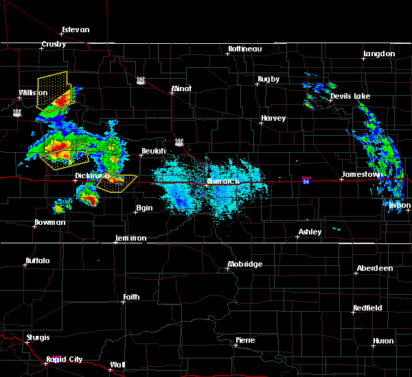 Radar Image for Severe Thunderstorms near Richardton, ND at 6/14/2020 6:43 PM MDT