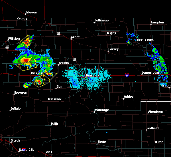 Radar Image for Severe Thunderstorms near Hebron, ND at 6/14/2020 6:50 PM MDT