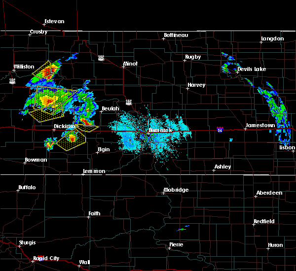 Radar Image for Severe Thunderstorms near Hebron, ND at 6/14/2020 6:58 PM MDT