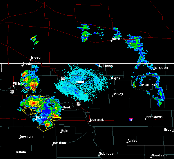 Radar Image for Severe Thunderstorms near Palermo, ND at 6/14/2020 8:02 PM CDT