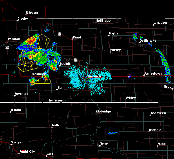Radar Image for Severe Thunderstorms near Richardton, ND at 6/14/2020 7:12 PM MDT