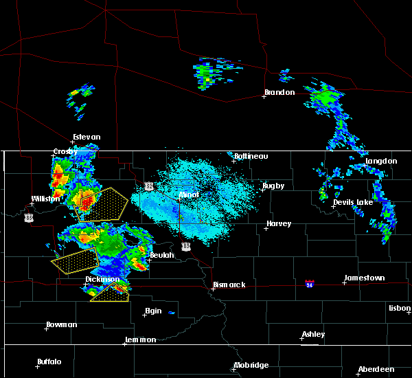Radar Image for Severe Thunderstorms near Stanley, ND at 6/14/2020 8:19 PM CDT
