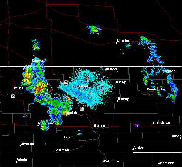 Radar Image for Severe Thunderstorms near Stanley, ND at 6/14/2020 8:39 PM CDT